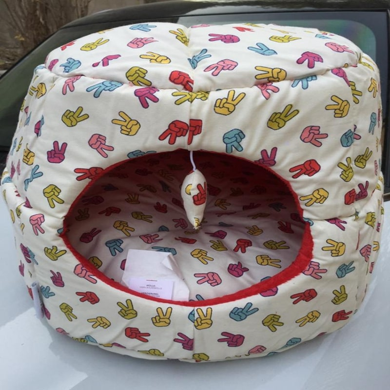 printed pet bed for dog