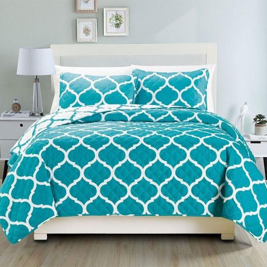 China bedspread factory print quilt set